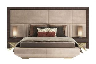Double bed with high headboard KIMERA - Capital Collection by