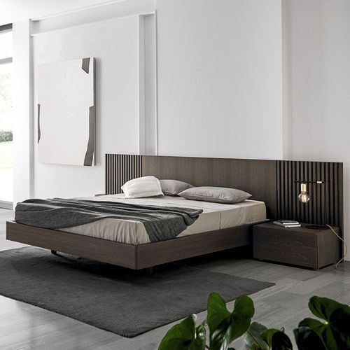 Double bed / contemporary / oak / wood veneer MIES by Odosdesign