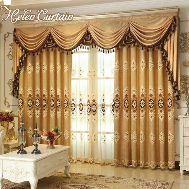 Helen Curtain Set Luxury European Style Embroidered Curtains For