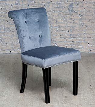 Other Grey Velvet Studded Dressing Table Chair: Amazon.co.uk