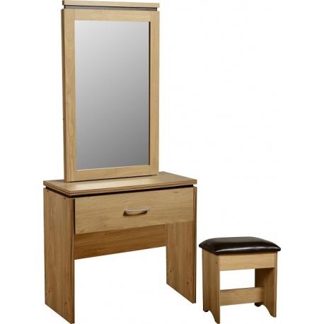 Charles 1 Drawer Dressing Table Mirror & Stool - JB Furniture