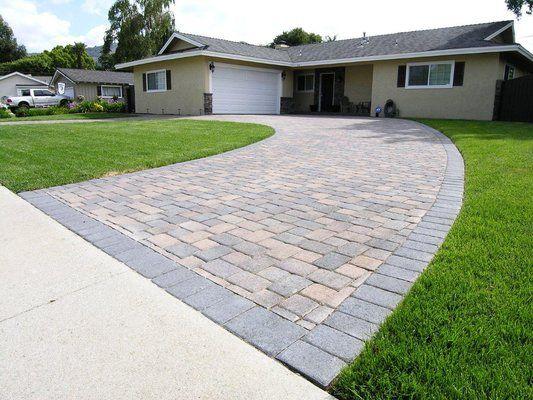 Semi Circle Driveways Small House | Cream/Brown/Charcoal I-Pattern