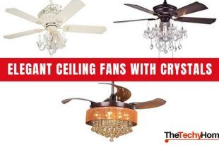 Elegant Ceiling Fans With Crystals | TheTechyHome