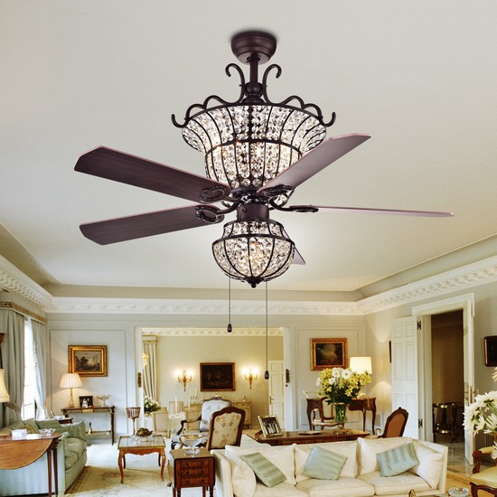 Crystal Chandelier Ceiling Fan: Elegant Design For Classy Rooms