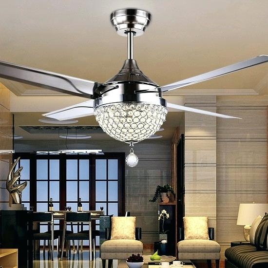 elegant ceiling fans with crystals u2013 Examples House Templates Download