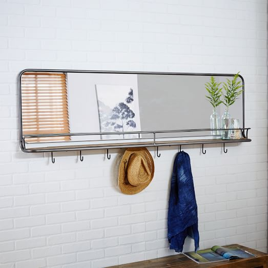 Entryway Mirror + Hooks - Large | west elm