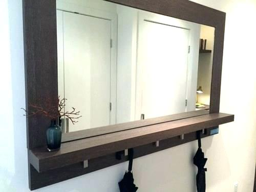entryway mirror with hooks and shelf entryway mirror with hooks