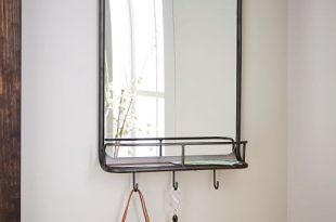 Entryway Mirror + Hooks | west elm