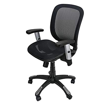 Amazon.com: Bowping Office Mesh Chair Mid Back Swivel Lumbar Support