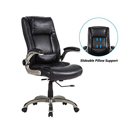 Amazon.com: LCH High Back Executive Office Chair with Flip-up Arms