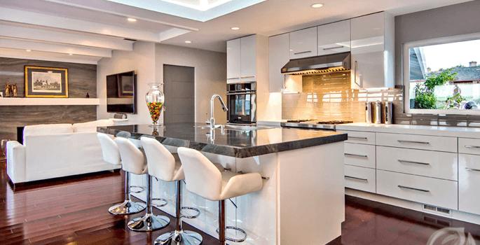 High Gloss Acrylic European Style Kitchen Cabinets