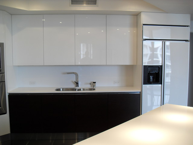 European Style Modern High Gloss Kitchen Cabinets - Feed Kitchens