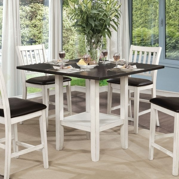 Shop Furniture of America Eliza Counter Height Expandable Dining
