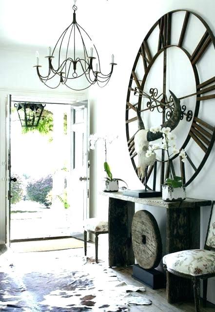 Inch Large Iron Retro Decorative Wall Clock Big Art Gear Roman