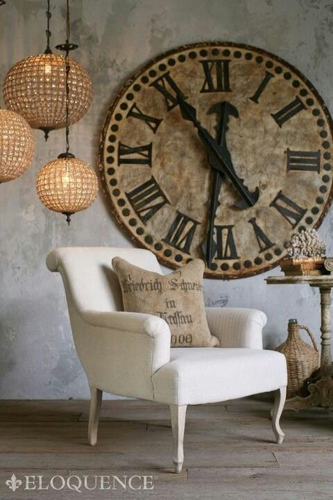 The impact of using large clocks in decorating | diy home decor