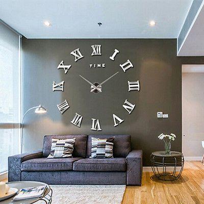 Extra Large Decorative Wall Clocks - Wall Art Paint on Priligyhowto.com