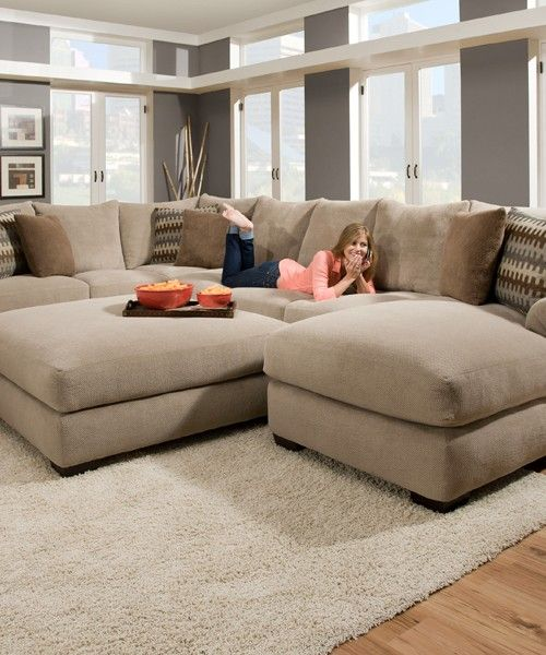 Extra large sectional sofa with chaise | Dream Home & Decor