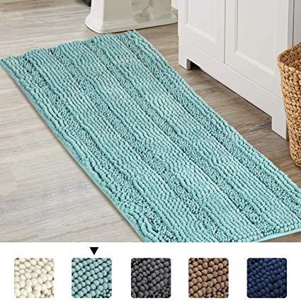 Amazon.com: Bathroom Runner Rug Extra Long Chenille Area Rug Set