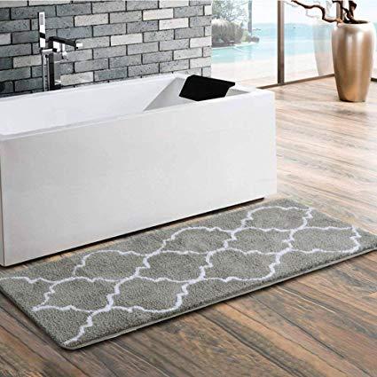 Amazon.com: Uphome Trellis Moroccan Extra Long Bathroom Rug