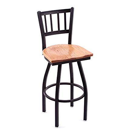 Amazon.com: Holland Bar Stool Cambridge Medium Oak Extra Tall Swivel