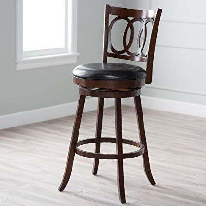 Amazon.com: Belham Living Woodward Extra-Tall Swivel Bar Stool