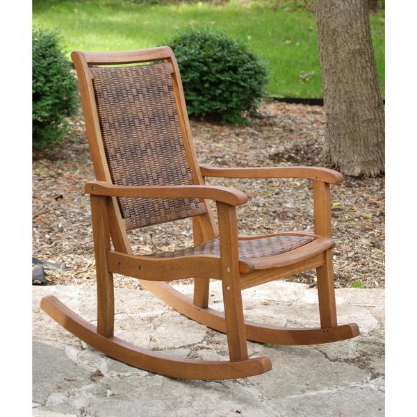 Outdoor Interiors Eucalyptus Rocking Chair | Woven Rocking Chair