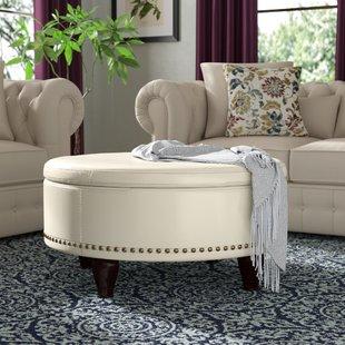 Printed Fabric Ottoman | Wayfair