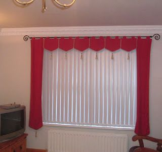 Idea for valance with vertical blinds | Random | Blinds, Vertical