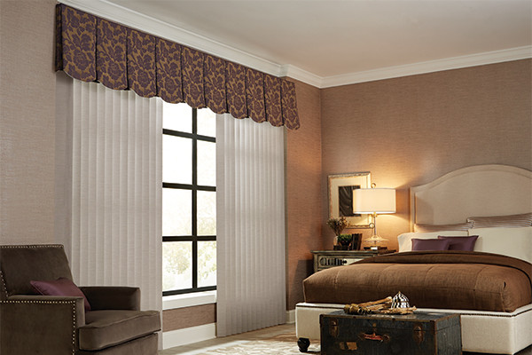 VERTICAL BLINDS - CLOTH FABRIC VALANCE - Graber Bedroom Ideas