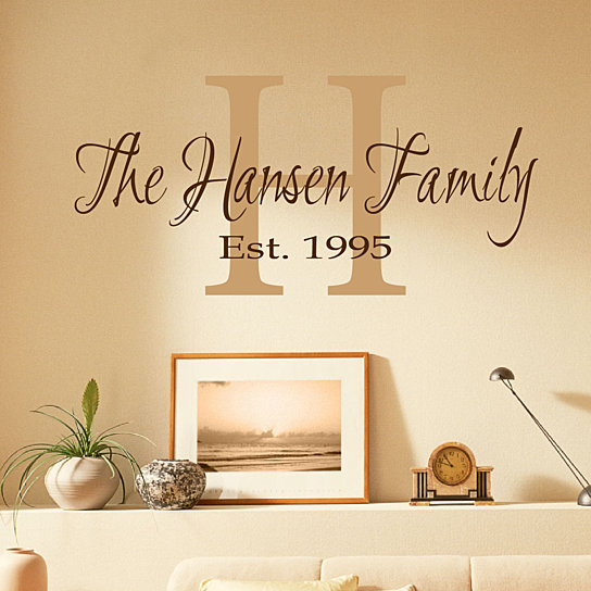 Buy Family Monogram Wall Decal - Monogram Decal by Davis Vinyl