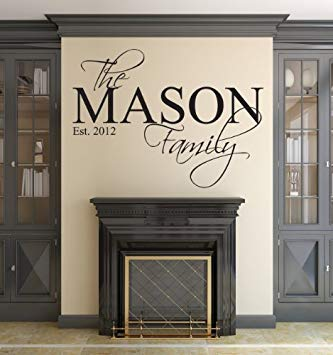 Amazon.com: Family Name Wall Decal Custom Personalized Monogram Est