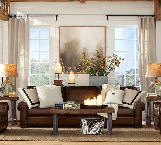 Family Room Decorating Ideas With Leather Furniture