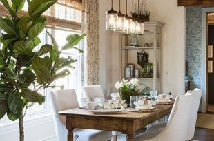 Fresh Farmhouse Lighting | Decorating | Farmhouse dining room table