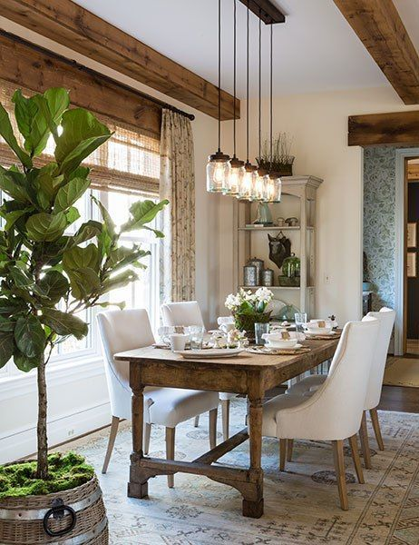 Farmhouse Dining Room Lighting