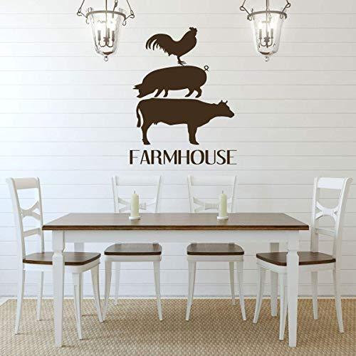 Amazon.com: Farmhouse Wall Decor u2013 'FARMHOUSE' Vinyl Lettering and