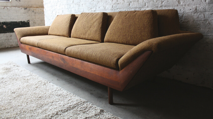 The Thunderbird Sofa is Back! | Flexsteel's Mid-century Modern Sofa