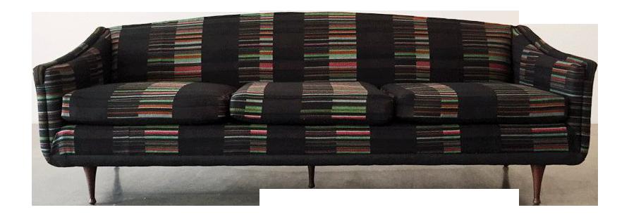 Mid Century Vintage Hella Jongerius Fabric Flexsteel Sofa | Chairish