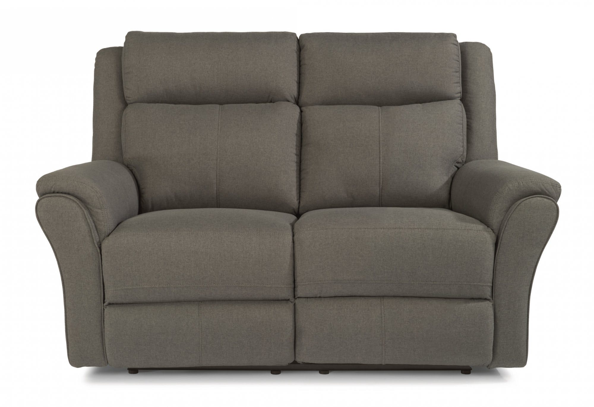 Flexsteel Living Room Fabric Power Reclining Loveseat With Power