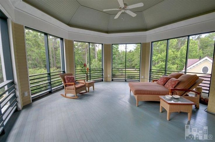 screened porch floors | Second floor screened porch. | Real Estate