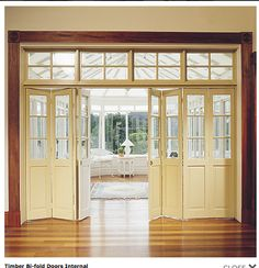Bifold French doors are beautiful interior room separators.