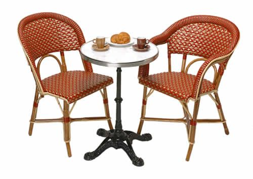 TK Collections:authentic French Cafe chairs & bistro tables for the