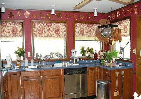 French country kitchen curtain ideas - winningmomsdiary.com