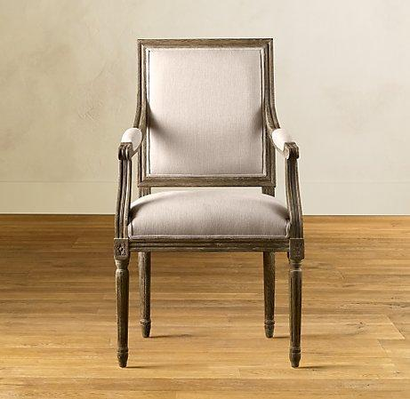 Vintage French Square Armchair - Dining Chair Collection - Furniture