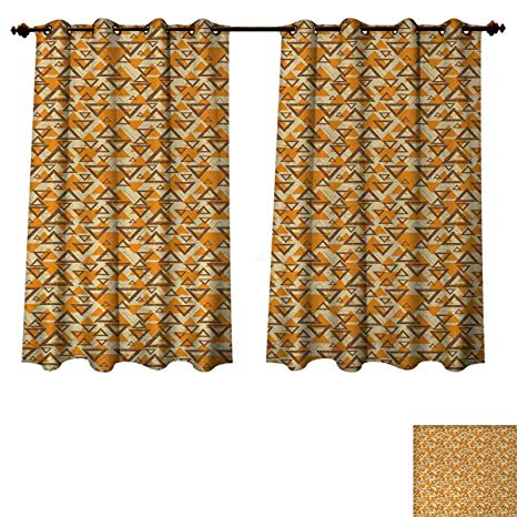 Amazon.com: Anzhouqux Geometric Bedroom Thermal Blackout Curtains