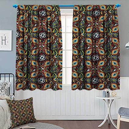 Amazon.com: Chaneyhouse Traditional Room Darkening Curtains Asian