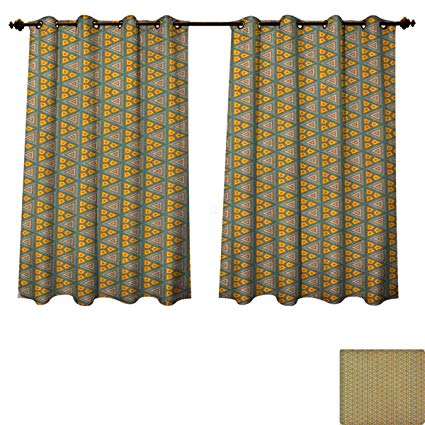 Amazon.com: Geometric Blackout Curtains Panels for Bedroom African