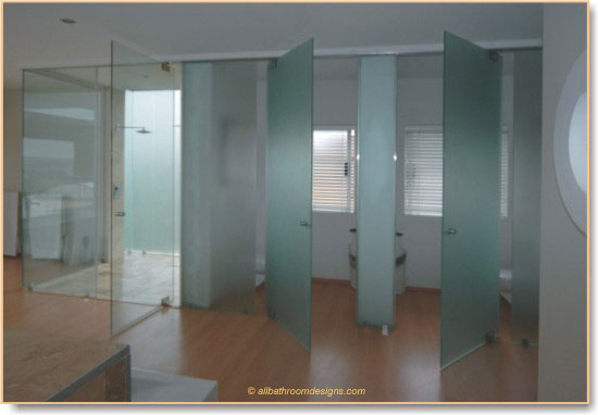 Contemporary Glass Bathroom Door An Important Part Of Your Design