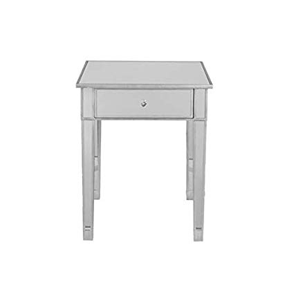 Amazon.com: Glass End Table with Storage - End Table with Wood Frame