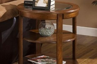 Amazon.com: Round End Table with Glass Top. These Small Modern