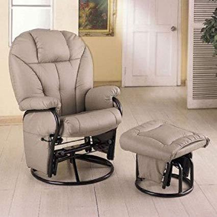 Amazon.com: Bone Leatherette Glider Rocker Recliner Chair with